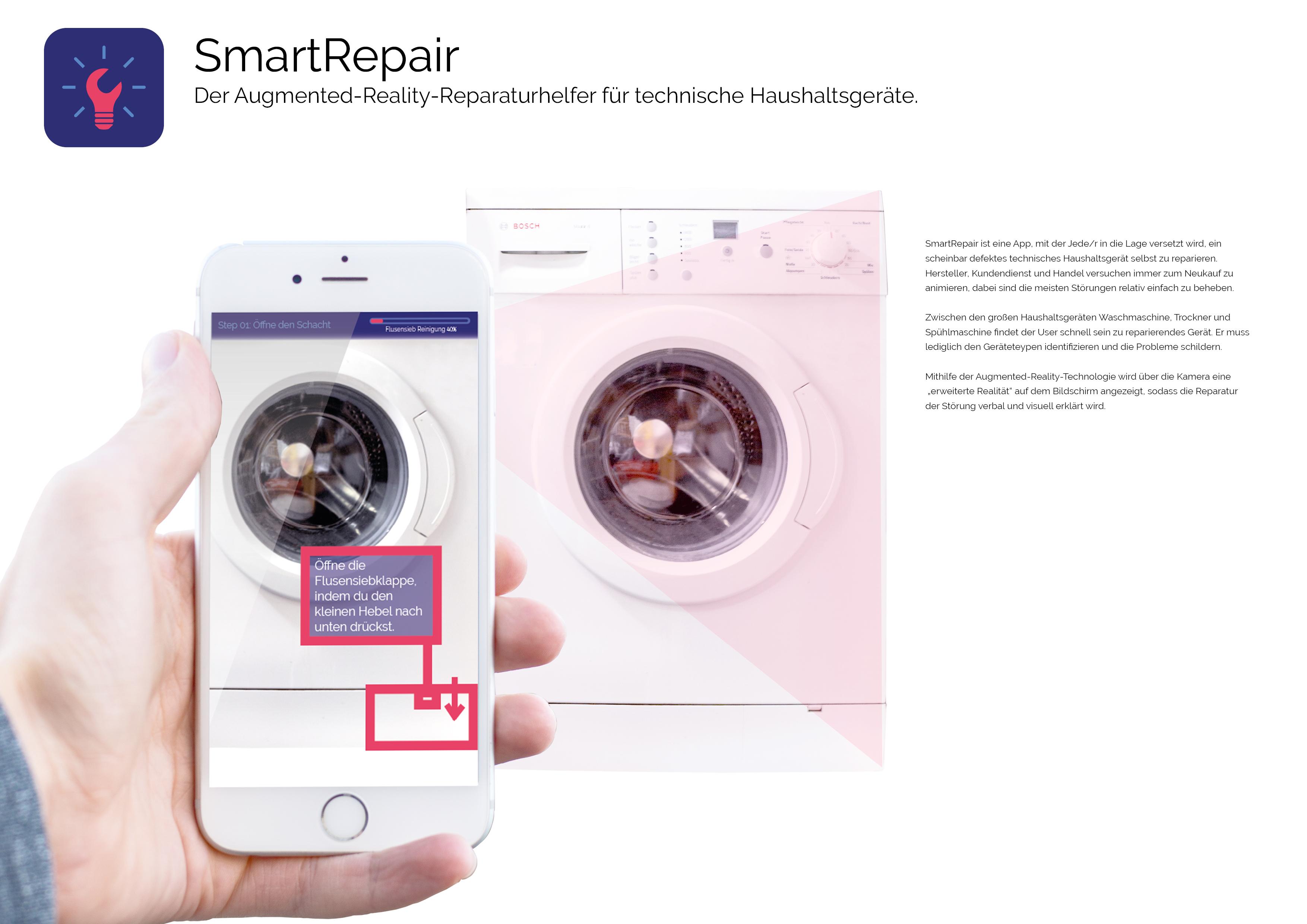 SmartRepair – Der Augmented-Reality-Reparaturhelfer für technische Haushaltsgeräte